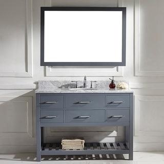 Virtu usa caroline estate 48 inch grey round single sink Virtu usa caroline 36 inch single sink bathroom vanity set