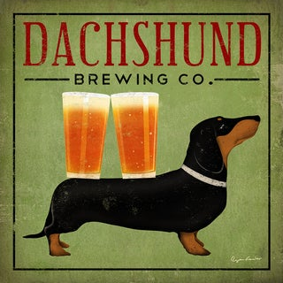 Ryan Fowler 'Dachshund Brewing Co.' Fine Art Giclee Print