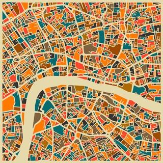Jazzberry Blue 'London' Fine Art Giclee Print
