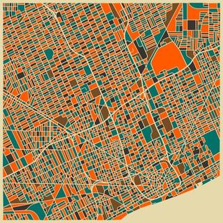Jazzberry Blue 'Detroit' Fine Art Giclee Print