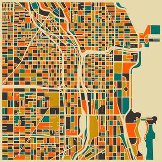 Jazzberry Blue 'Chicago' Fine Art Giclee Print