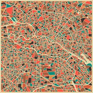 Jazzberry Blue 'Berlin' Fine Art Giclee Print