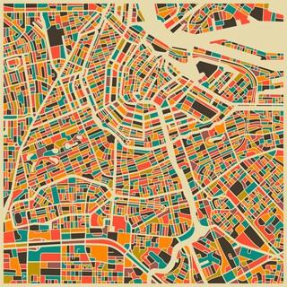 Jazzberry Blue 'Amsterdam' Fine Art Giclee Print