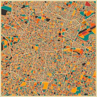 Jazzberry Blue 'Mexico City' Fine Art Giclee Print