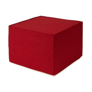 Very Berry Red 22-inch Foam Outdoor Ottoman