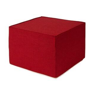 Softblock Very Berry Red 22-inch Foam Outdoor Ottoman