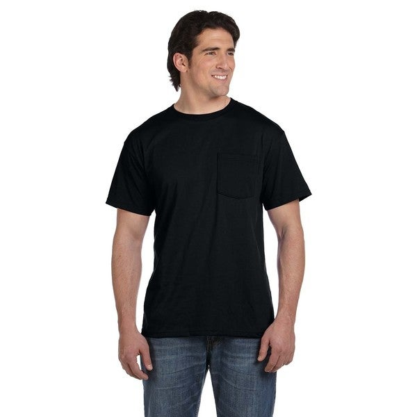 Fruit Of The Loom Men's Black 50/50 Best Pocket Undershirts (Pack of 9)