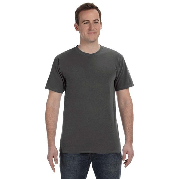 Authentic Pigment Men's Pigment-dyed Direct-dyed Ringspun T-shirt (Super Value Pack of 12)
