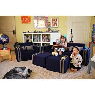 Softblock Kids' Navy Indoor/Outdoor Foam Sofa