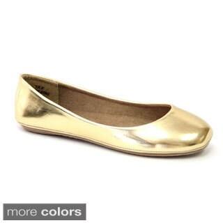 DOOBALLO Girls' Elise Ballerina Flats