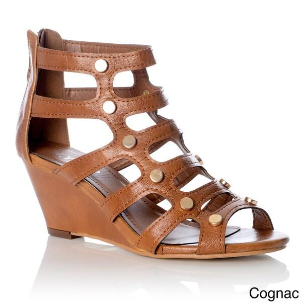 NY VIP Women's Gladiator Wedge Sandals