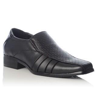 Henry Ferrera Men's Novelty Woven Upper Pleated Shank Loafers