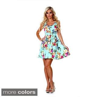 White Mark Women's Skater Dress