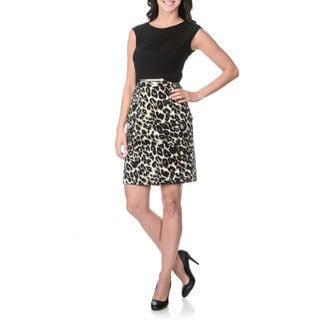 Sandra Darren Women's Animal Print Dress