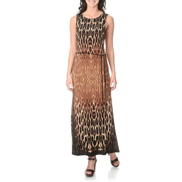 Sandra Darren Women's Animal Print Maxi Dress