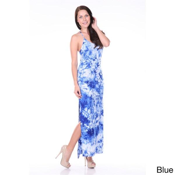 White Mark Women's Tie Dye Maxi Dress