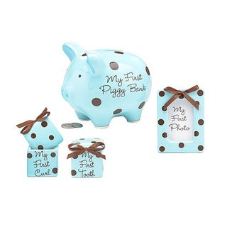 Burton+Burton Baby Boy's Gift Set in Dot
