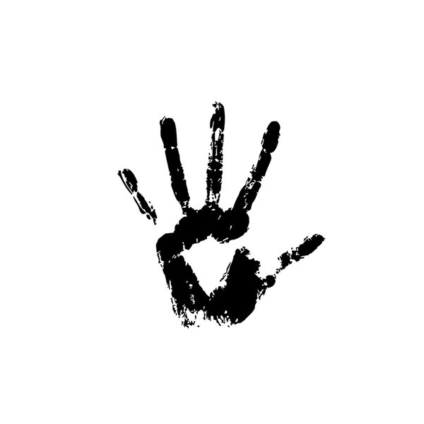 Five Fingers Palm Vinyl Wall Art