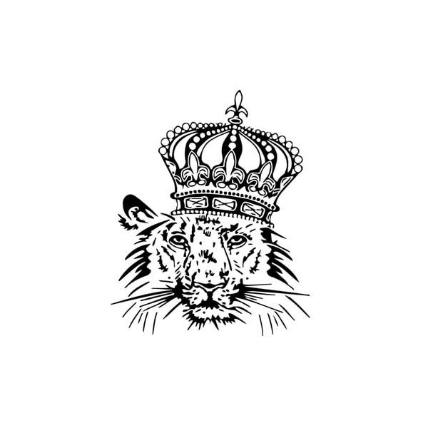 Tiger in Crown Vinyl Wall Art