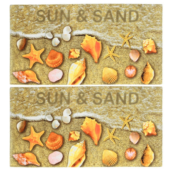 Sun and Sand Seashells Beach Towel (Set of 2)