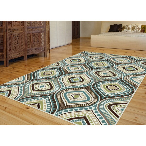 Modern Rugs 8 X 10: Caprice Blue Contemporary Area Rug (8' X 10')