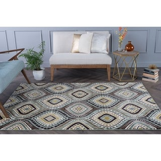 Alise Caprice Blue Contemporary Area Rug (7'10 x 10'3)