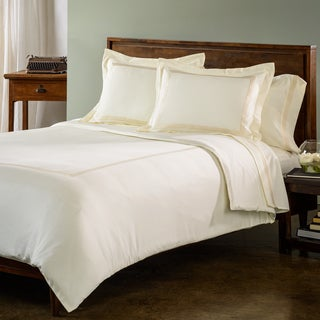 Roxbury Park Gold Baratto Stripe 3-piece Duvet Cover Set with Optional Euro Sham Sold Separately