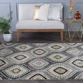Caprice Blue Contemporary Area Rug