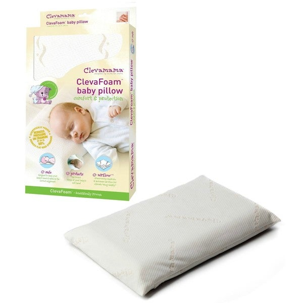 Clevamama ClevaFoam Baby Pillow in White