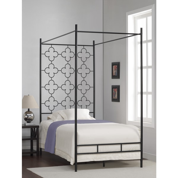 Quatrefoil Twin Canopy Bed