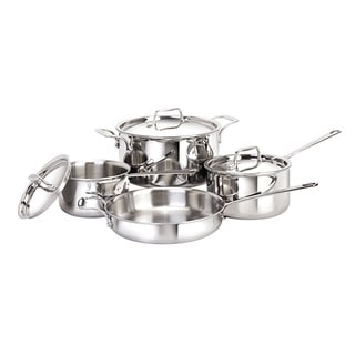 Cool Kitchen Tri-ply Stainless Steel 7-piece Cookware Set
