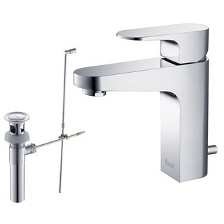 Rivuss Aragon Lead-free Solid Brass Chrome Finished Single-lever Bathroom Faucet and Pull-out Drain