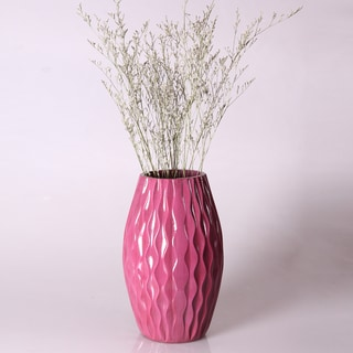 Decorative Purple 12-inch Wooden Vase