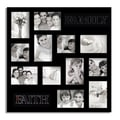 Adeco 12-photo Collage Black Wood Picture Frame