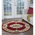 Lagoon Red Traditional Area Rug (5'3 Round)