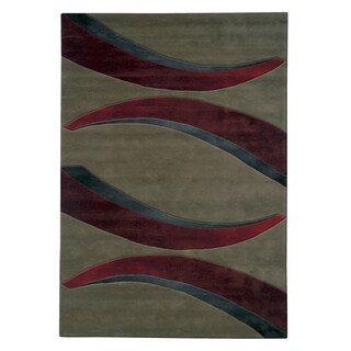 Mystique Red Arches Rug (5.3 x 7.7)