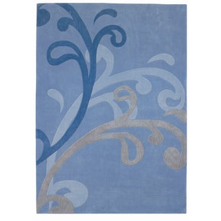 Mystique Blue Splash Rug (5.3 x 7.7)