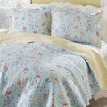 Laura Ashley Crofton Reversible Cotton 3-piece Quilt Set