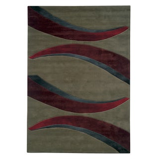 Mystique Red Arches Rug (6.7 x 9.6)