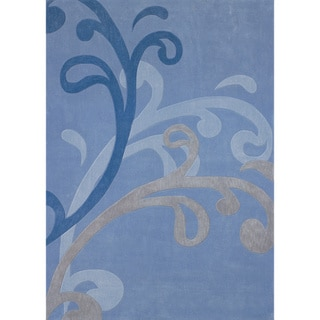 Mystique Blue Splash Rug (7.10 x 10.10)