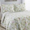 Laura Ashley Carlisle Mist Reversible Cotton 3-piece Quilt Set