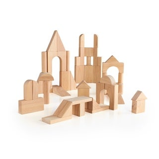 Guidecraft 76-piece Hardwood Deluxe Block Set