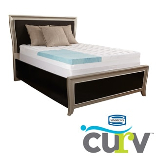 Simmons Curv 5.5-inch Gel Memory Foam and Fiber Mattress Topper