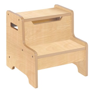 Guidecraft Expressions Step Stool Natural
