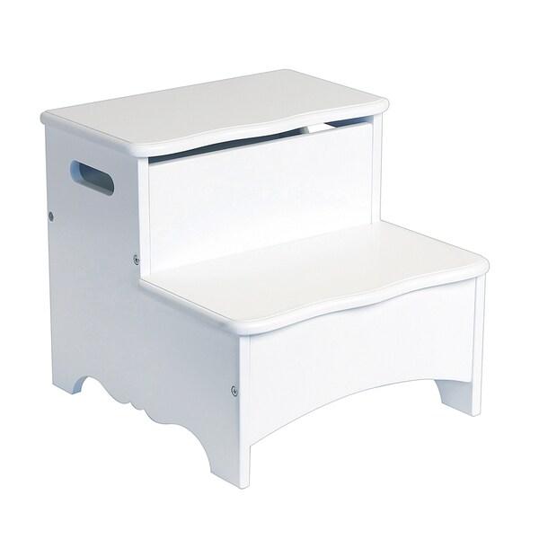 Guidecraft Classic White Storage Step Up