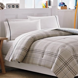 Nautica Hempstead Plaid Cotton 3-piece Duvet Cover Set