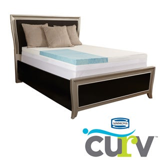 Simmons Curv Supreme 4-inch Gel Memory Foam Mattress Topper with Waterproof Cover