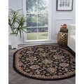 Lagoon Charcoal Transitional Area Rug (5'3 x 7'3 Oval)