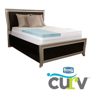 Simmons Curv 3-inch Gel Memory Foam Mattress Topper with 300 TC Egyptian Cotton Cover