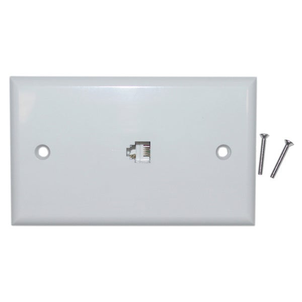 Offex White Smooth Telephone Wall Plate